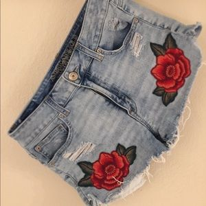 American eagle, embroidered Hi Rise Shortie